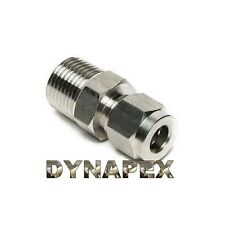 "Compression 3/8"" Tube OD x 1/4"" NPT Male Pipe 316 Stainless Steel Fitting LOK-3G"