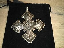 Vintage Sterling Reed and Barton 1973 Christmas Snowflake Ornament or Pendant