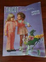 Guide patron modèle de tricot vintage 1973 Spécial Layette