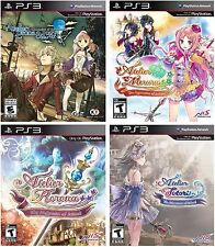 Atelier Totori Rorona Meruru Escha & Logy Alchemist + PS3 Game Bundle Lot RPG