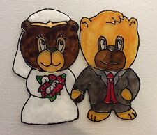 Wedding Bears Sun Catchers.  Straight, Gay, and Lesbian Collection.