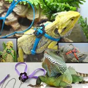 Reptile Harness Adjustable Lizard Bearded Dragon Leash Training Robe Outdoor AU
