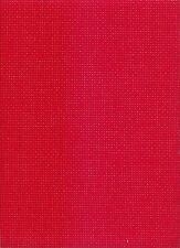 "8 count Zweigart Binca/Aida ""Red"" Cross Stitch Fabric 49x57cms"