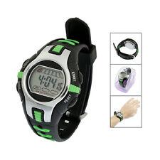 Schwarz Grün Kunststoff einstellbare Armband digitale Sportuhr für Kinder GY
