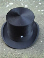 Large Antique Empire Black Silk Top Hat. Sz 7 1/8 ..