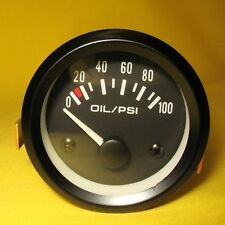 "Oil Pressure Gauge 100 PSI 2"" Inch 52mm Round Press Meter 12V Car Auto Truck  CB"