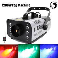 More details for 1200w led smoke machine rgb fog machine stage haze effect dj party with remote