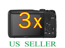3x Sony CyberShot DSC-HX20V Clear LCD Screen Protector Guard Cover Film