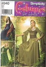 Renaissance Medieval Dress Lord of the Rings Costume Pattern Size 10 12 14 16 18