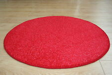 Red Glitter 3ft Circle Rug Oval Sparkle Rug Modern Speckled Glitter Red Rug