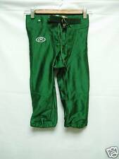 Youth Game Practice Football Pants Green Small NWOT