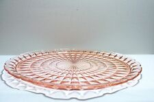 *Windsor Pink Depression Glass Chop Plate Jeanette Glass