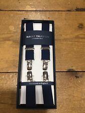 Albert Thurston London 1820 25mm Clip Braces - Navy