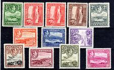 Antigua KGVI  mmint part set to 10/- Cat £120 1938  [A909]