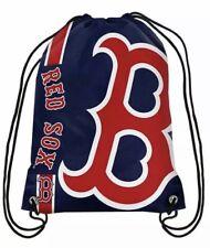 New! Boston Red Sox Big Logo Drawstring Backpack Bag Navy MLB Fan Gear Gift
