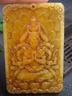 Antique Chinese Nephrite Celadon-HETIAN-JADE Buddhism Statue/Pendant QING