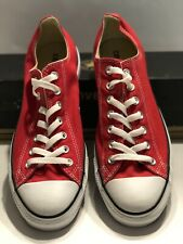 Converse All Star OX Low Red (M9696) Men's Size 10 Women's Size 12