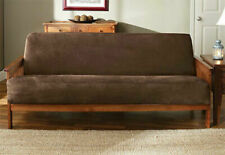 Sure Fit™ Faux-Suede Futon Slipcover in Chocolate / Brown Box