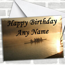 Rowing Birthday Customised Card