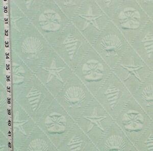 Aqua seashell fabric cotton matelasse home decorating material upholstery BTHY