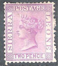 Sierra Leone 1873 magenta 2d crown CC upright perf 12.5 mint SG12