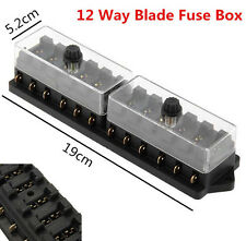 12V Auto Truck Boat 12 Way Circuit Standard Blade Fuse Box Block Holder