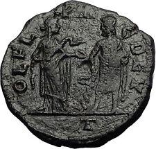 PHILIP I the ARAB 244AD Deultum Thrace ASCLEPIUS & HYGEIA RARE Roman Coin i58572