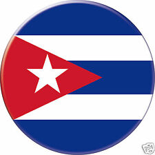 5 x sticker 5cm auto moto velo valise pc portable drapeau Rond Cuba