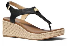 Nib Michael Kors Laney Thong Black Sandals Slippers - Women's Size 5.5