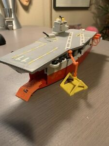 Vintage 1988 Galoob Micro Machines Aircraft Carrier Playset - LOOSE