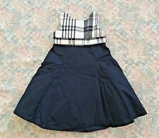 NWT GYMBOREE Plaid Classic Navy Cotton Poplin Plaid Dress Girls 4
