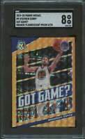 2019 PANINI MOSAIC GOT GAME ORANGE FLOURESCENT STEPHEN CURRY SGC 8 /25