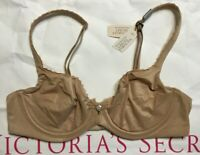 NEW with Tag VICTORIAS SECRET Unlined Demi 34B Tan Body By Victoria Bra