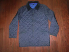 BARBOUR NAVY BLUE QUILTED LIDDESDALE BARN JACKET MENS SZ M