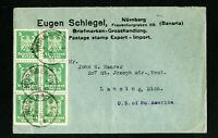 Germany Eugen Schlegel Advertising Block 6 Stamp Cover