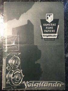 Original-Voigtländer-Katalog von 1934 Kameras Filme Papiere Objektive