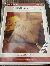 husqvarna viking card Candlewicking  Embroidery for Rose Scandinavia Iris