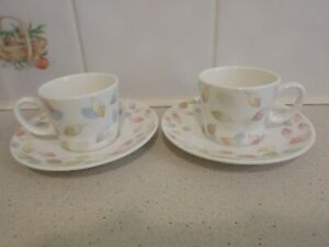 Beautiful, Lucca Home, Espresso/Demitasse Cups And Saucers. Boxed, x2