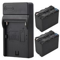 2X 7800mah NP-F960 NP-F970 Ersatz Akkus + Ladegerät für Sony NP-F970 NP-F960 Cam