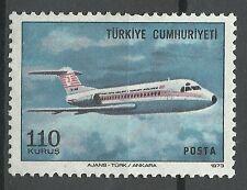 Turquie Turkey Aviation Avion Fokker F 28 Short Brothers Plane Flugzeuge ** 1973