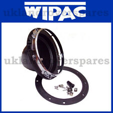 ROUND 7 INCH HEADLAMP BOWL / HEADLIGHT BOWL, PLASTIC + CHROME RING - WIPAC S5400