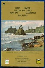 1972 Nov Forks Beaver Neah Bay Washington wa Telephone Directory Book
