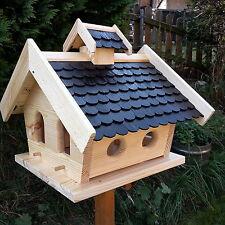 Großes Vogelhaus Putzklappe Vogelfutterhaus Vogelhäuser Holz Vogelhäuschen GPS