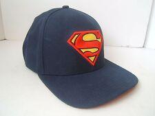 Superman Snapback Hat Dark Blue DC Comics Baseball Cap