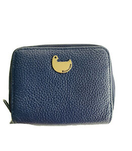 Buxton Wizard Women RFID Blue  Leather Credit Card ID Wallet