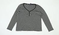 Maine Womens Size 18 Striped Cotton Grey Top (Regular)