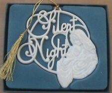 Lenox China Christmas Ornament Silent Night Mary with Baby Jesus in Box