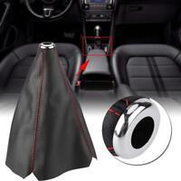 Universal Auto Car Stitch PU Leather Manual Gear Shifter Shift Knob Boot Cover