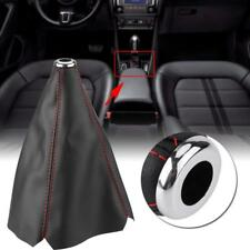 Universal Auto Car Stitch PU Leather Manual Gear Shifter Shift Knob Boot Cover