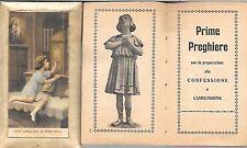 PRIME PREGHIERE RICORDO CRESIMA PRIMA COMUNIONE CONFESSIONE 1927